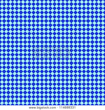 Simple Geometric Blue Pattern Seamless Background