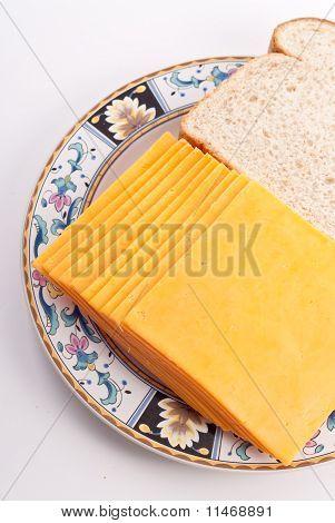 Fatias de queijo Cheddar suave