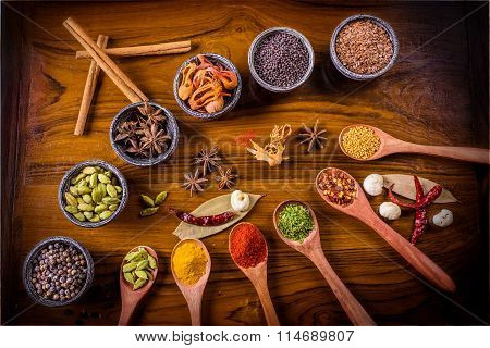 Assorted Spices For The Kitchen
