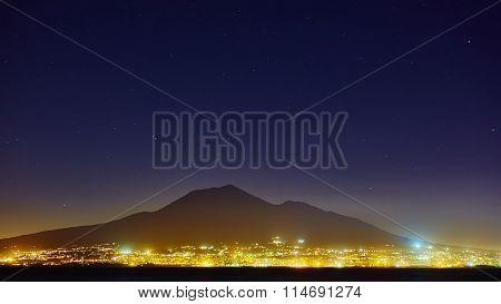 Mount Vesuvius, from Sorrento, Italy