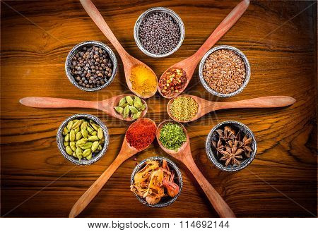 Spice Spoons And Bowls