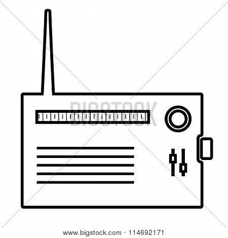 Radio line icon