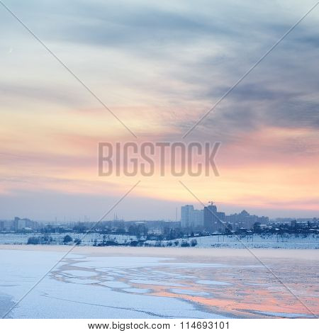 Sunset Over Angara River