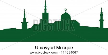 The Umayyad mosque. Syria. Green color.