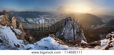 Sulov Rocks At Winter