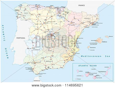 Motorway Map Spain