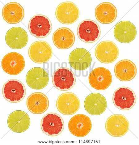 Allsorts From A Citrus Fruit Close-up