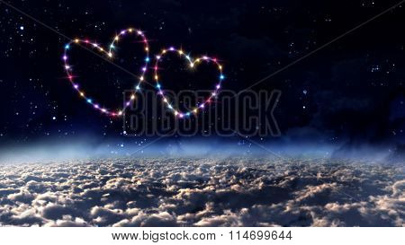 Outer Space Hearts Star