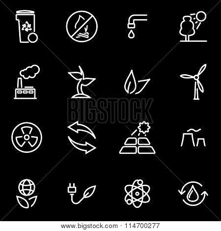 Vector Line Eco Icon Set