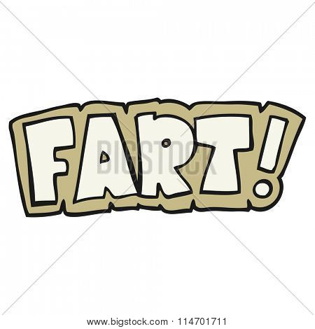 freehand drawn cartoon fart symbol