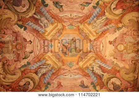 Ceiling Fresco In The Uffizi Gallery, Florence, Italy