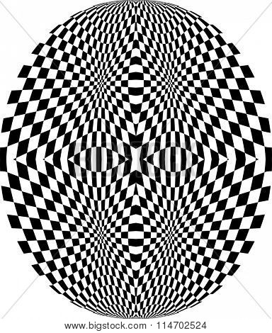 Checkered Background Design Vector Illustration