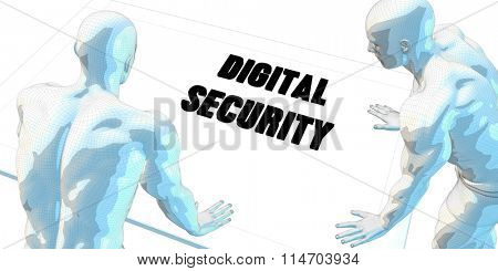Digital Security Discussion and Business Meeting Concept Art
