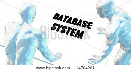 Database System Discussion and Business Meeting Concept Art