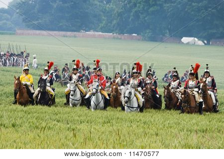 Re-enactment Battle Of Waterloo, Belgium 2009