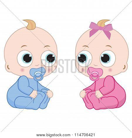 Little Boy And Little Girl
