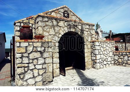 Tokaj Winery Cave.
