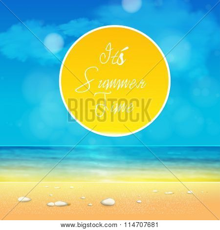 It's Summer Time easy editable