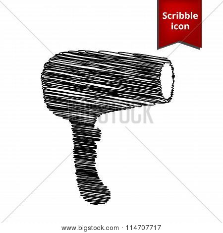 Hair Dryer. Hairdresser Symbol