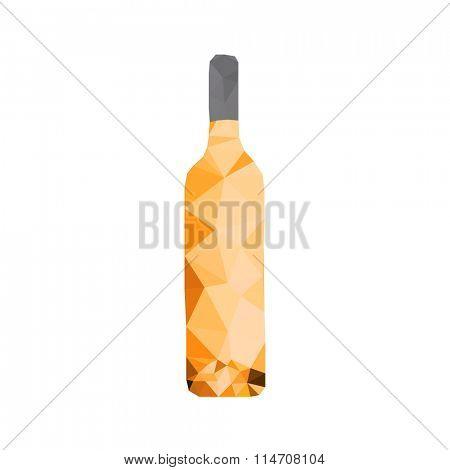 wine bottle polygon design easy all editable