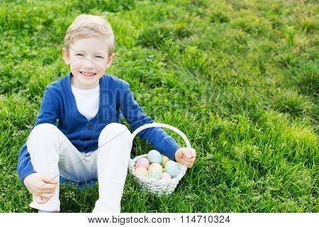 Kid At Easter Time