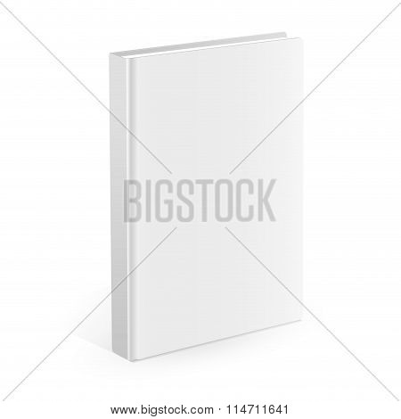 Realistic white book on the white background. Realistic book mockups.
