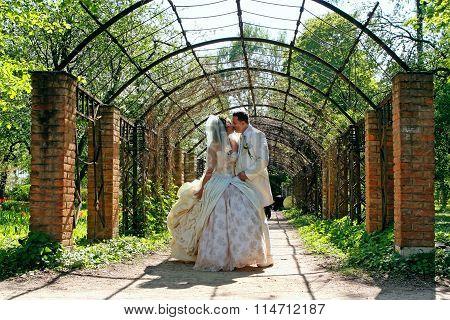 Wedding. Kissing Couple