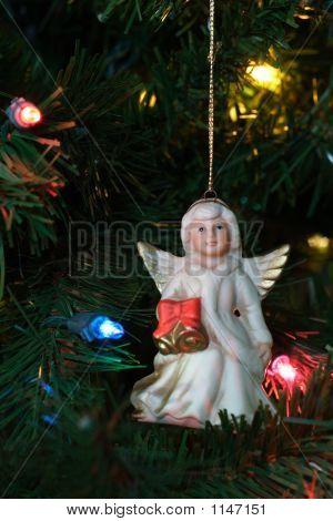 Angel Ornament On Tree