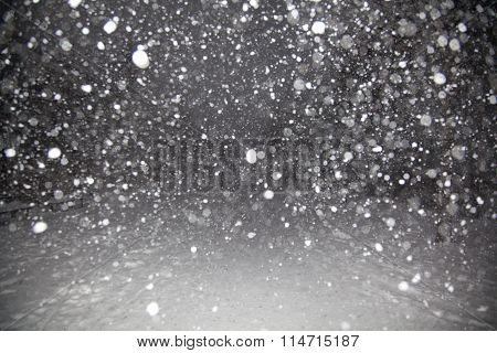 Snow At Night Background Texture
