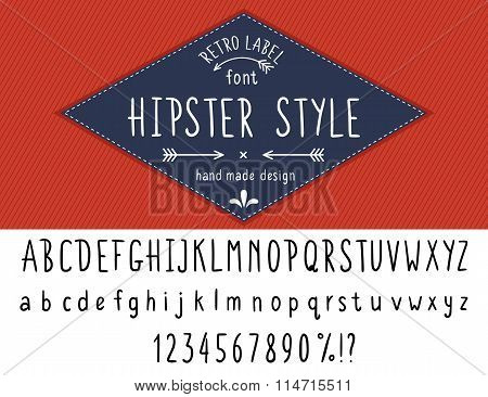 Hipster style font