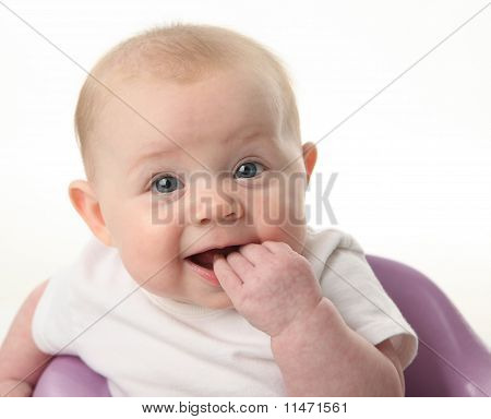 Baby Chewing Fingers