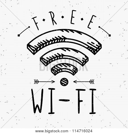 Wi-fi sign in vintage style