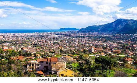 Beautiful Cityscape Of Palermo, In Italy