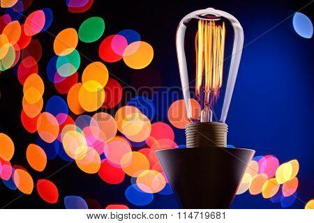 Edison Light Bulb With Lights