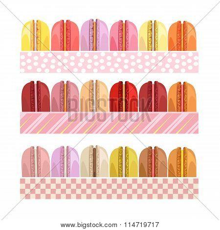 Colorful donuts.  Delicious desserts