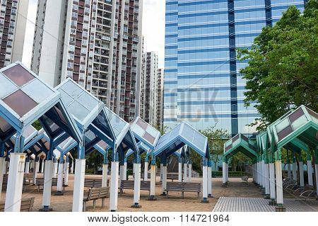 HONG KONG - MAY 09, 2012: Quarry Bay Park in Hong Kong. Hong Kong, is an autonomous territory on the southern coast of China at the Pearl River Estuary and the South China Sea
