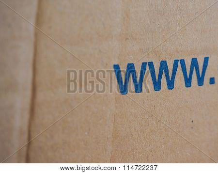 Cardboard Box With Www