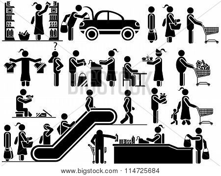 Icons Man Shopping