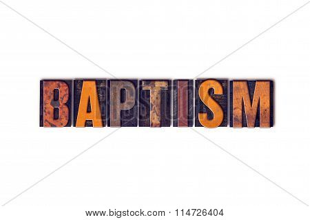 Baptism Concept Isolated Letterpress Type