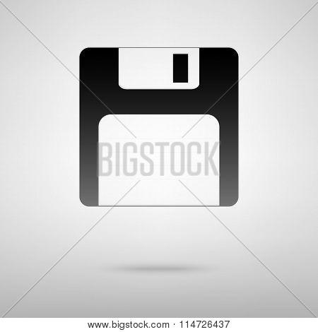 Floppy disk black icon