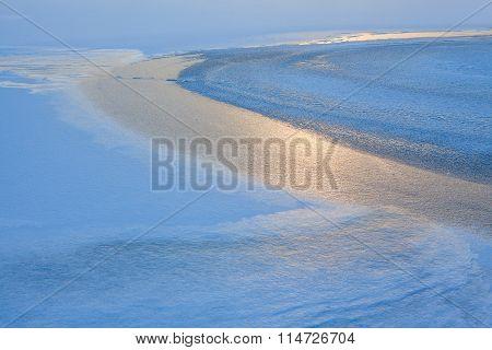 winter ice reflection