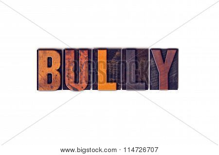 Bully Concept Isolated Letterpress Type