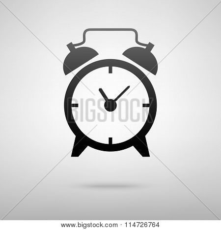 Alarm clock black icon
