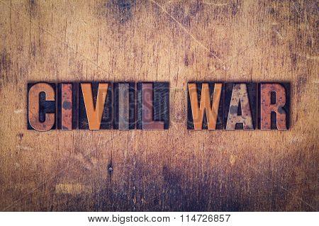 Civil War Concept Wooden Letterpress Type