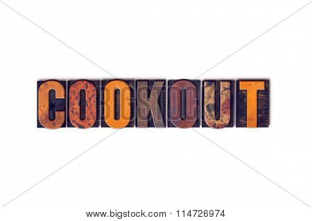 Cookout Concept Isolated Letterpress Type