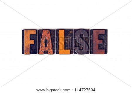 False Concept Isolated Letterpress Type