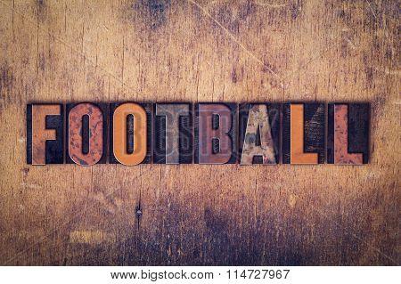 Football Concept Wooden Letterpress Type