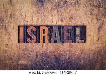 Israel Concept Wooden Letterpress Type
