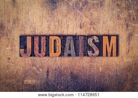 Judaism Concept Wooden Letterpress Type