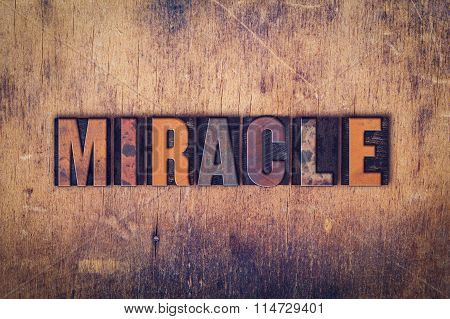 Miracle Concept Wooden Letterpress Type